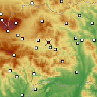 Nearby Forecast Locations - Spišské Podhradie - Mapa
