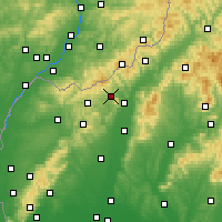 Nearby Forecast Locations - Stará Turá - Mapa