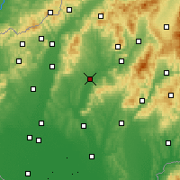Nearby Forecast Locations - Topoľčany - Mapa