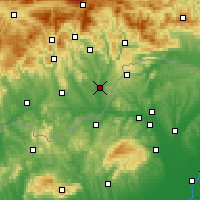 Nearby Forecast Locations - Tornaľa - Mapa