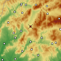 Nearby Forecast Locations - Turčianske Teplice - Mapa