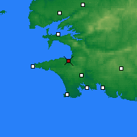 Nearby Forecast Locations - Douarnenez - Mapa