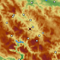 Nearby Forecast Locations - Kiseljak - Mapa