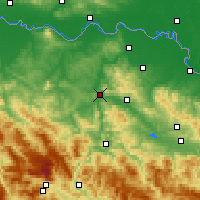 Nearby Forecast Locations - Doboj - Mapa