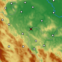 Nearby Forecast Locations - Velika Kladuša - Mapa