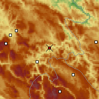 Nearby Forecast Locations - Goražde - Mapa