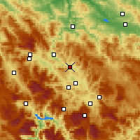 Nearby Forecast Locations - Kakanj - Mapa