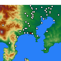 Nearby Forecast Locations - Fujisawa - Mapa