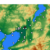 Nearby Forecast Locations - Takatsuki - Mapa