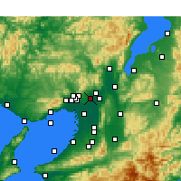 Nearby Forecast Locations - Ibaraki - Mapa