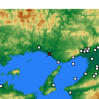 Nearby Forecast Locations - Kakogawa - Mapa
