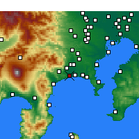 Nearby Forecast Locations - Hiratsuka - Mapa