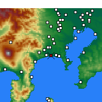 Nearby Forecast Locations - Chigasaki - Mapa