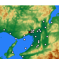 Nearby Forecast Locations - Takarazuka - Mapa
