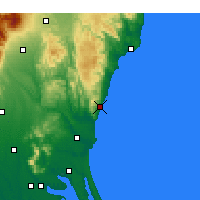 Nearby Forecast Locations - Hitachi - Mapa