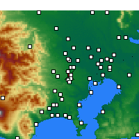 Nearby Forecast Locations - Nishitōkyō - Mapa
