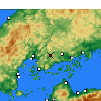 Nearby Forecast Locations - Higashihiroshima - Mapa