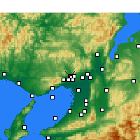 Nearby Forecast Locations - Kawanishi - Mapa