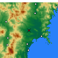 Nearby Forecast Locations - Ōsaki - Mapa