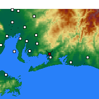 Nearby Forecast Locations - Toyokawa - Mapa
