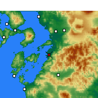 Nearby Forecast Locations - Yatsushiro - Mapa