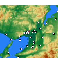 Nearby Forecast Locations - Minoh - Mapa
