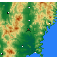 Nearby Forecast Locations - Ichinoseki - Mapa