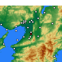 Nearby Forecast Locations - Habikino - Mapa