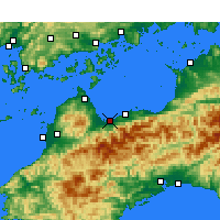 Nearby Forecast Locations - Saijō - Mapa