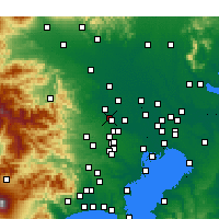 Nearby Forecast Locations - Fujimino - Mapa