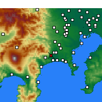 Nearby Forecast Locations - Isehara - Mapa