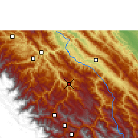 Nearby Forecast Locations - Caranavi - Mapa
