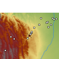 Nearby Forecast Locations - Tiquipaya - Mapa