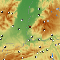 Nearby Forecast Locations - Müllheim - Mapa