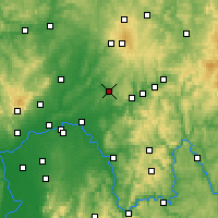 Nearby Forecast Locations - Büdingen - Mapa