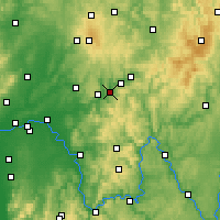 Nearby Forecast Locations - Bad Soden-Salmünster - Mapa