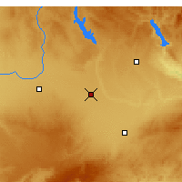 Nearby Forecast Locations - La Roda - Mapa