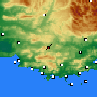 Nearby Forecast Locations - Saint-Maximin-la-Sainte-Baume - Mapa