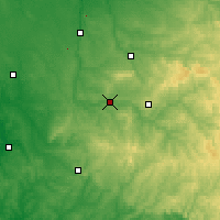 Nearby Forecast Locations - Saint-Junien - Mapa