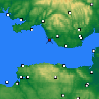Nearby Forecast Locations - Porthcawl - Mapa