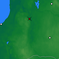 Nearby Forecast Locations - Kuldīga - Mapa