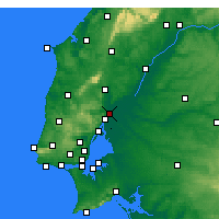 Nearby Forecast Locations - Castanheira do Ribatejo - Mapa
