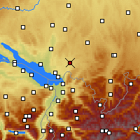 Nearby Forecast Locations - Wangen im Allgäu - Mapa