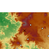 Nearby Forecast Locations - Dschang - Mapa