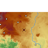 Nearby Forecast Locations - Bangangté - Mapa