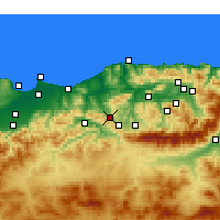 Nearby Forecast Locations - Tizi Ghenif - Mapa