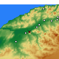 Nearby Forecast Locations - Oued Rhiou - Mapa
