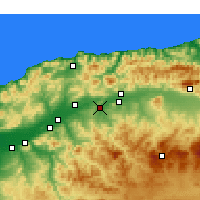 Nearby Forecast Locations - Oued Fodda - Mapa