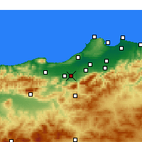 Nearby Forecast Locations - Mouzaïa - Mapa