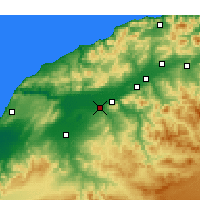 Nearby Forecast Locations - Djidioua - Mapa